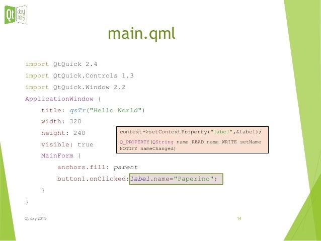 Integrazione QML / C++