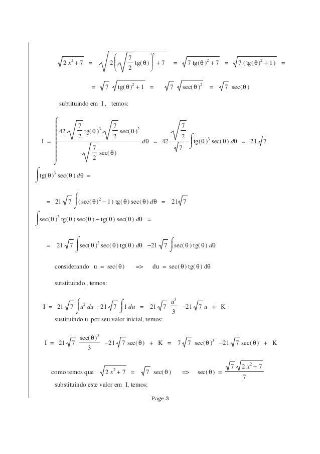+2 x2 7 = +2       7 2 ( )tg θ 2 7 = +7 ( )tg θ 2 7 = 7 ( )+( )tg θ 2 1 = = 7 +( )tg θ 2 1 = 7 ( )sec θ 2 = 7 ( )s...