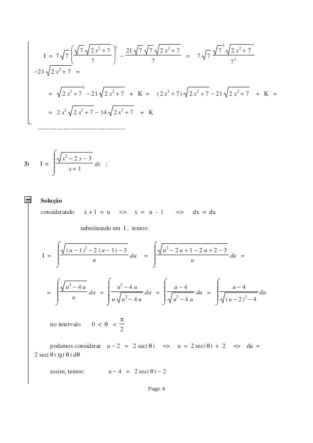 I = 7 7         7 +2 x2 7 7 3 − 21 7 7 +2 x2 7 7 = 7 7 7 3 +2 x2 7 3 73 −21 +2 x2 7 = = −+2 x2 7 3 21 +2 x2 7 + K ...