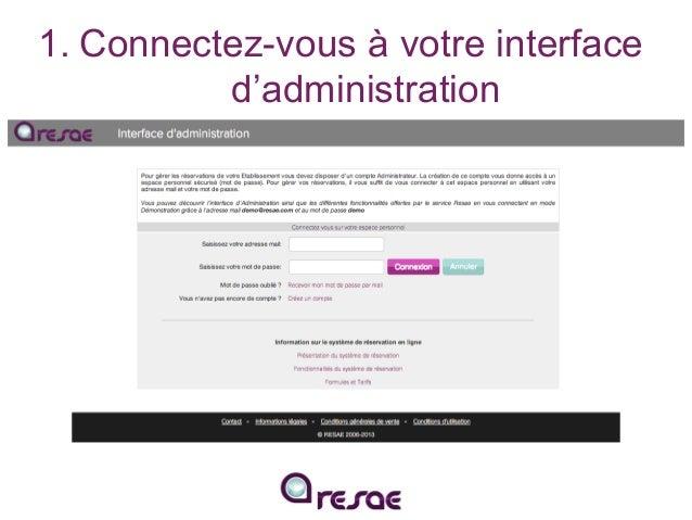 Intégrez le module de réservation RESAE à votre site internet Slide 2