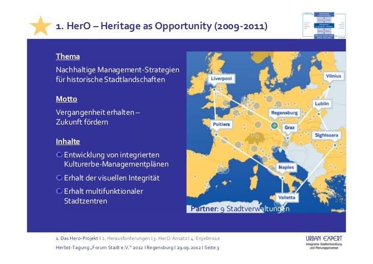 Integrierte Welterbe-Managementpläne (Tagung, Regensburg, 29.09.2012) Slide 3