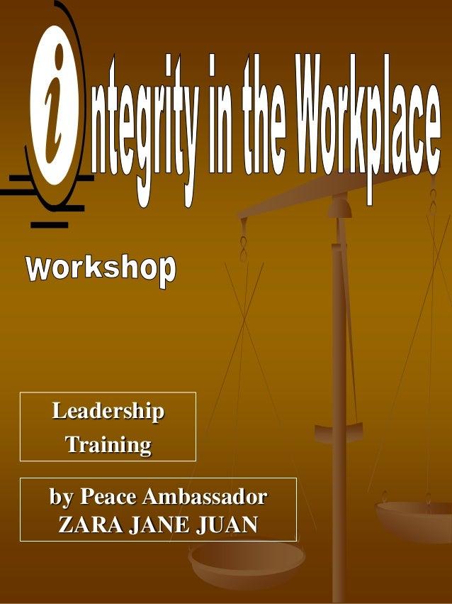 by Peace Ambassador ZARA JANE JUAN Leadership Training