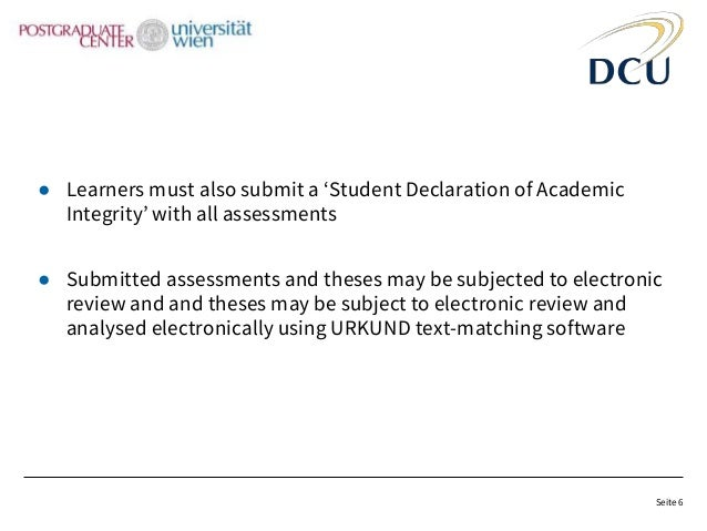 dcu thesis declaration