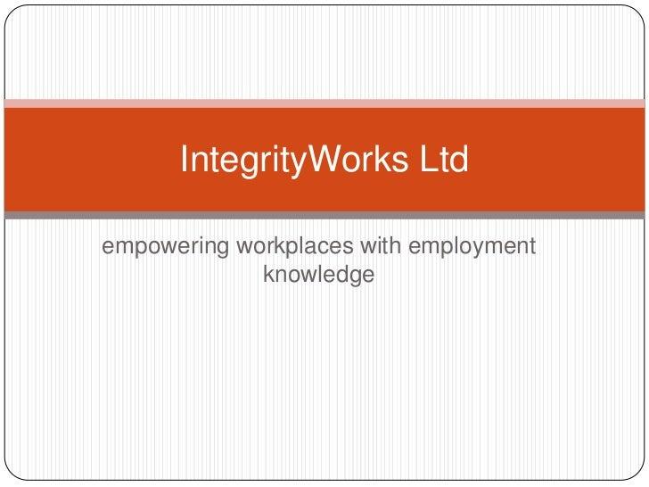 Integrity works ltd