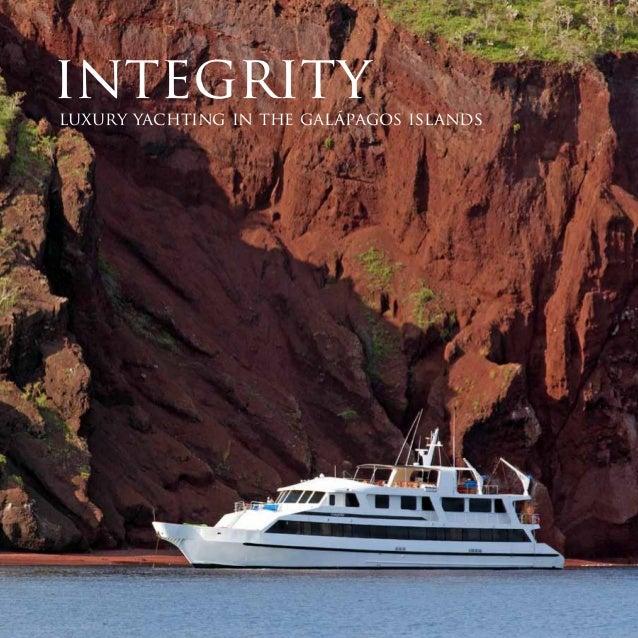 integrityluxury yachting in the galápagos islands