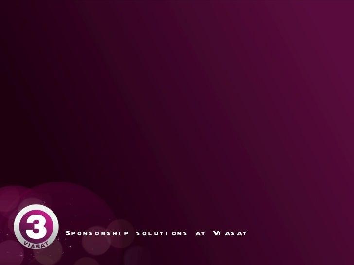 Sponsorship solutions at Viasat