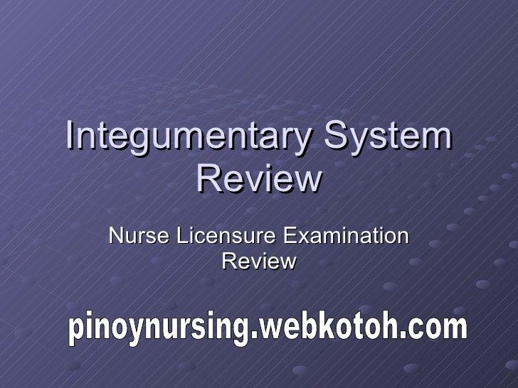 Integumentary System Review Nurse Licensure Examination Review pinoynursing.webkotoh.com
