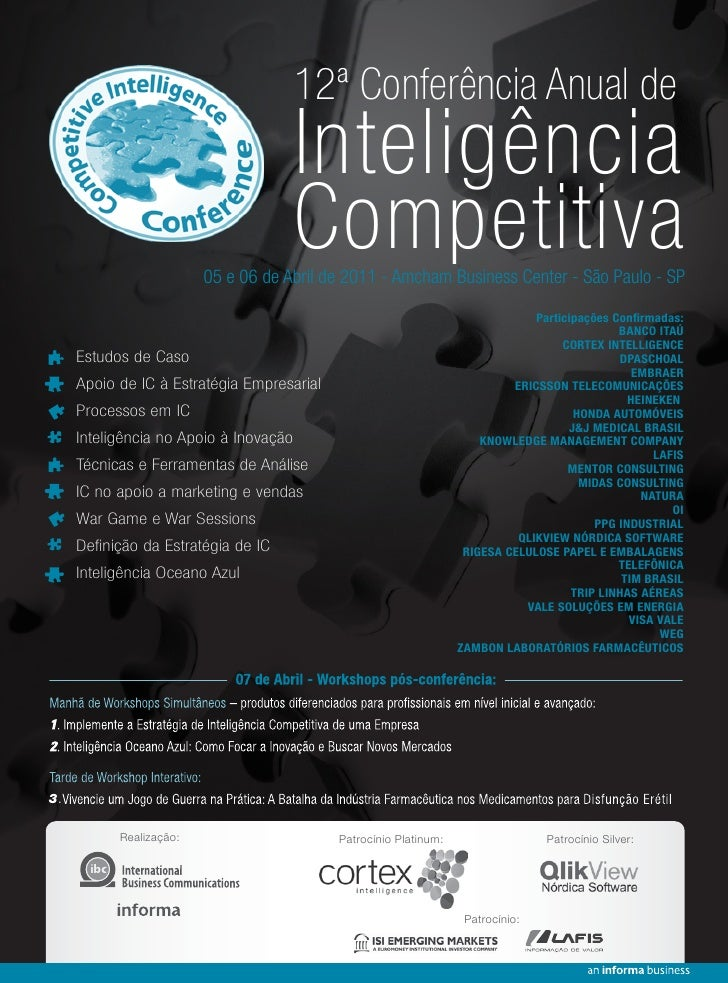 12ª Conferência Anual de                                        Inteligência                                        Compet...