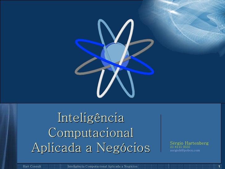 Inteligência Computacional Aplicada a Negócios Sérgio Hartenberg 21 8115 0555 [email_address]