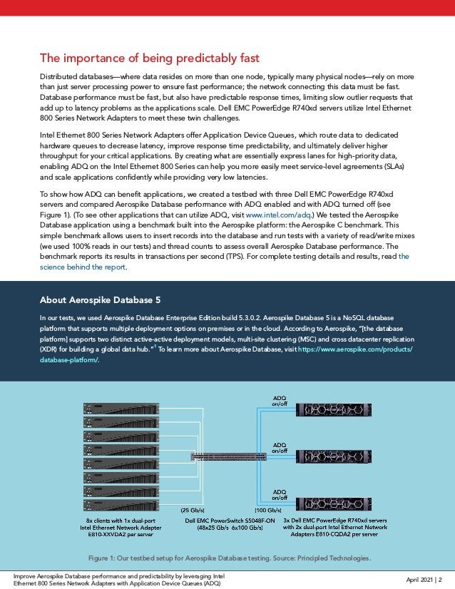 The importance of being predictably fast Distributed databases—where data resides on more than one node, typically many ph...