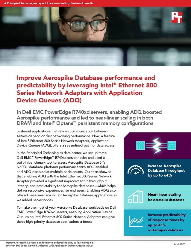 Improve Aerospike Database performance and predictability by leveraging Intel® Ethernet 800 Series Network Adapters with A...