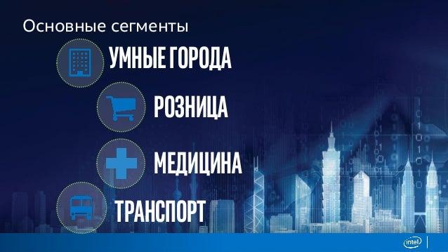 Основные сегменты Умныегорода Розница Медицина Транспорт