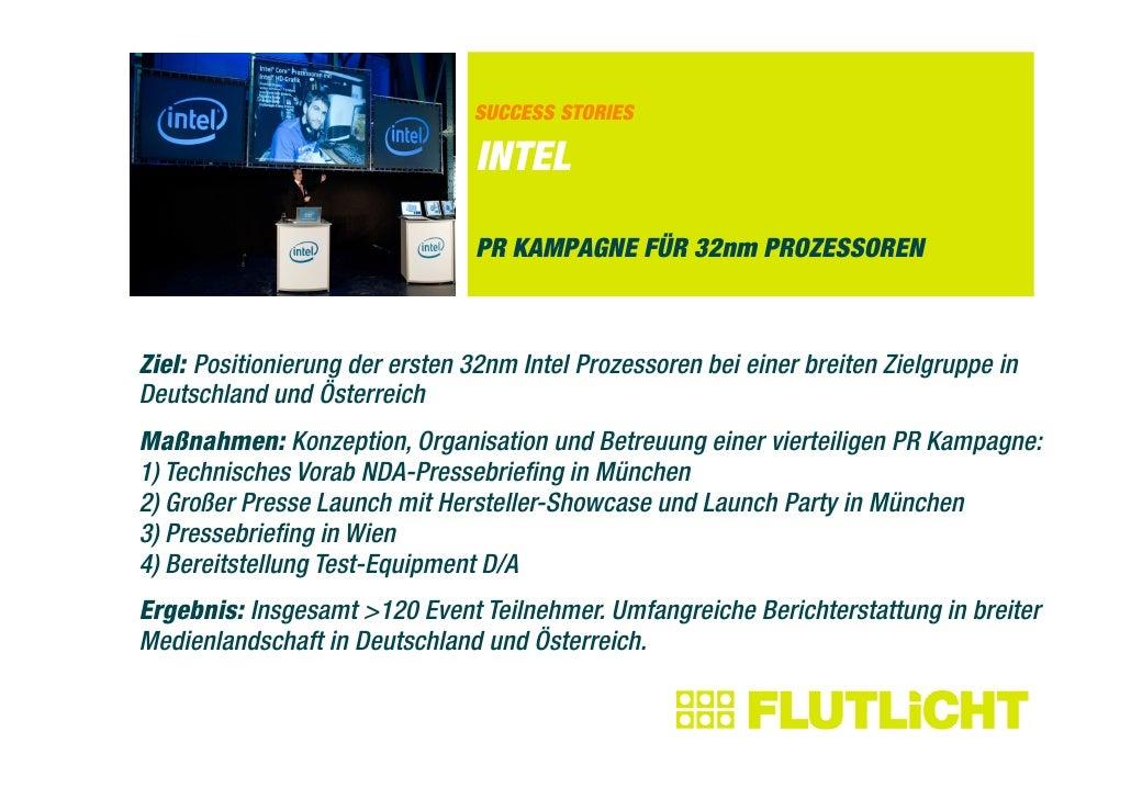 SUCCESS STORIES                                  INTEL                                  PR KAMPAGNE FÜR 32nm PROZESSOREN  ...