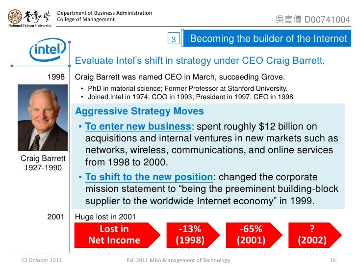case study intel corporation 1968 2003 This study was commissioned by the computer & communications industry  of  the antitrust cases against intel corporation the views and.