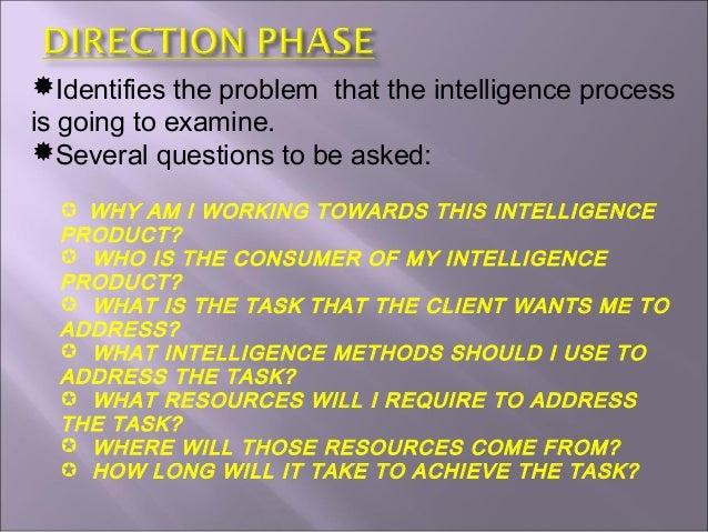 intelligence process cycle