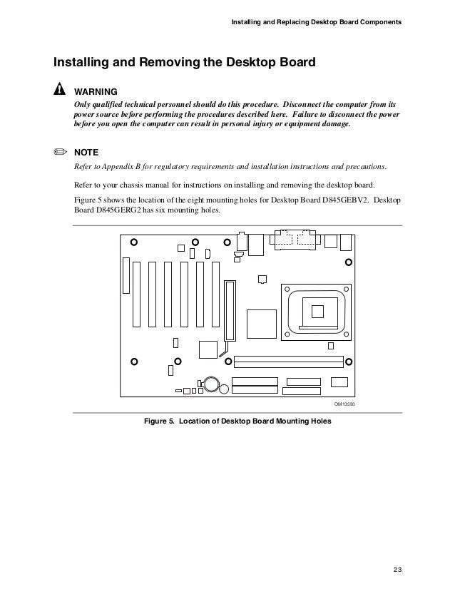 Intel desktop board d845gerg2
