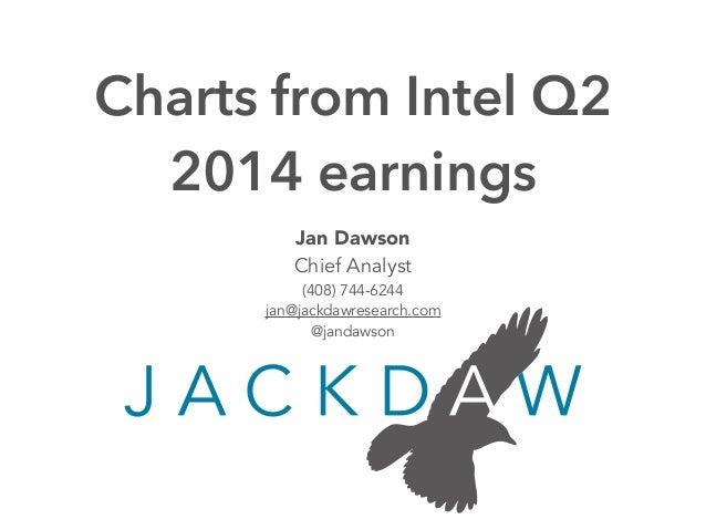 Jan Dawson Chief Analyst (408) 744-6244 jan@jackdawresearch.com @jandawson Charts from Intel Q2 2014 earnings