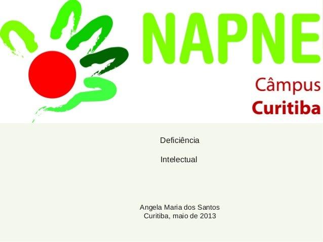 Deficiência Intelectual Angela Maria dos Santos Curitiba, maio de 2013