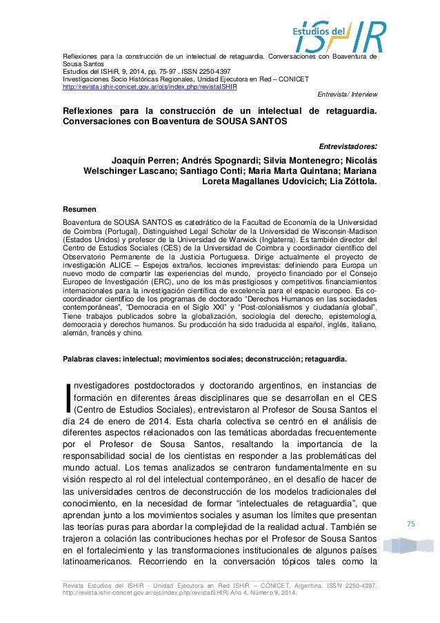 Revista Estudios del ISHiR - Unidad Ejecutora en Red ISHiR – CONICET, Argentina. ISSN 2250-4397,  http://revista.ishir-con...