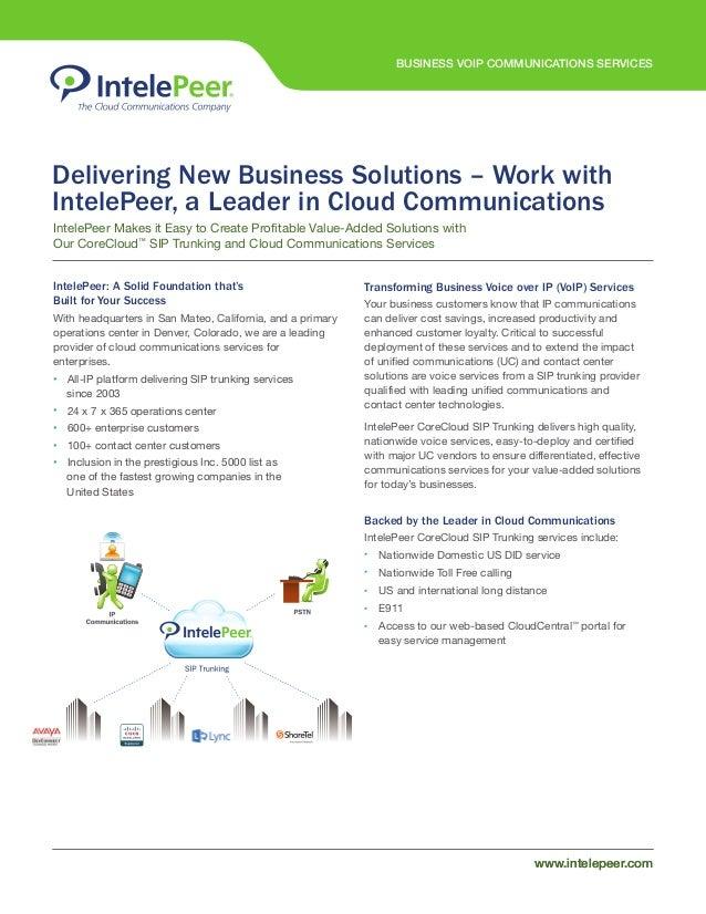 Business VoIP data sheet