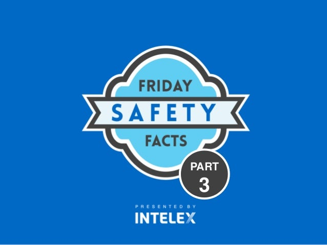 Intelex friday safety facts part 3 for Home safety facts