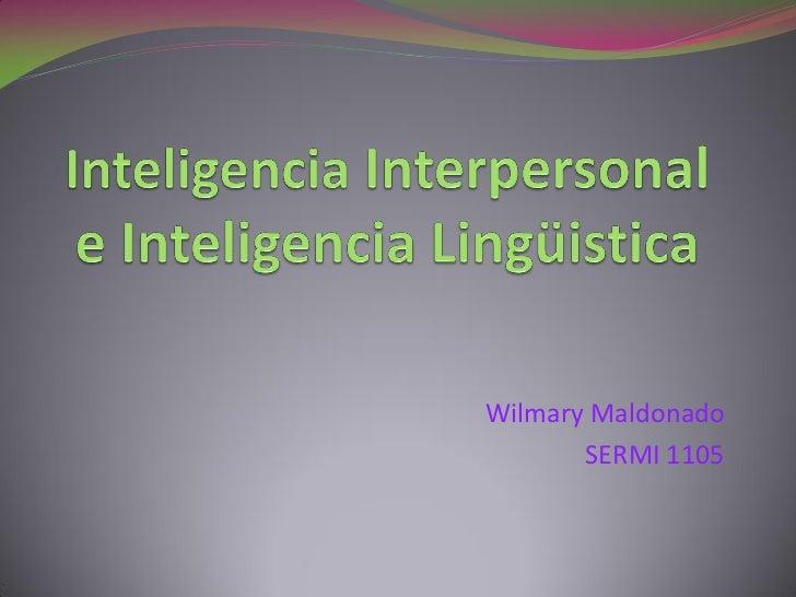 Wilmary Maldonado       SERMI 1105