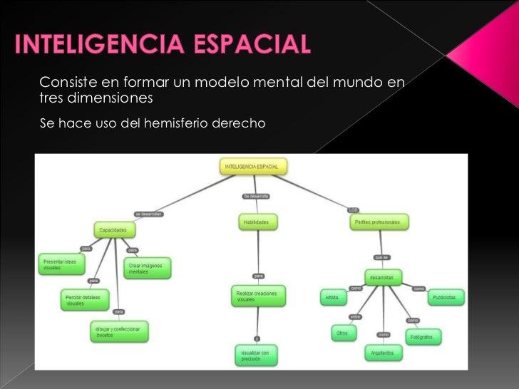 Consiste en formar un modelo mental del mundo entres dimensionesSe hace uso del hemisferio derecho                        ...