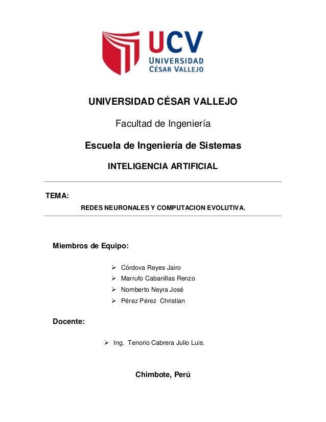 UNIVERSIDAD CÉSAR VALLEJO                 Facultad de Ingeniería         Escuela de Ingeniería de Sistemas               I...