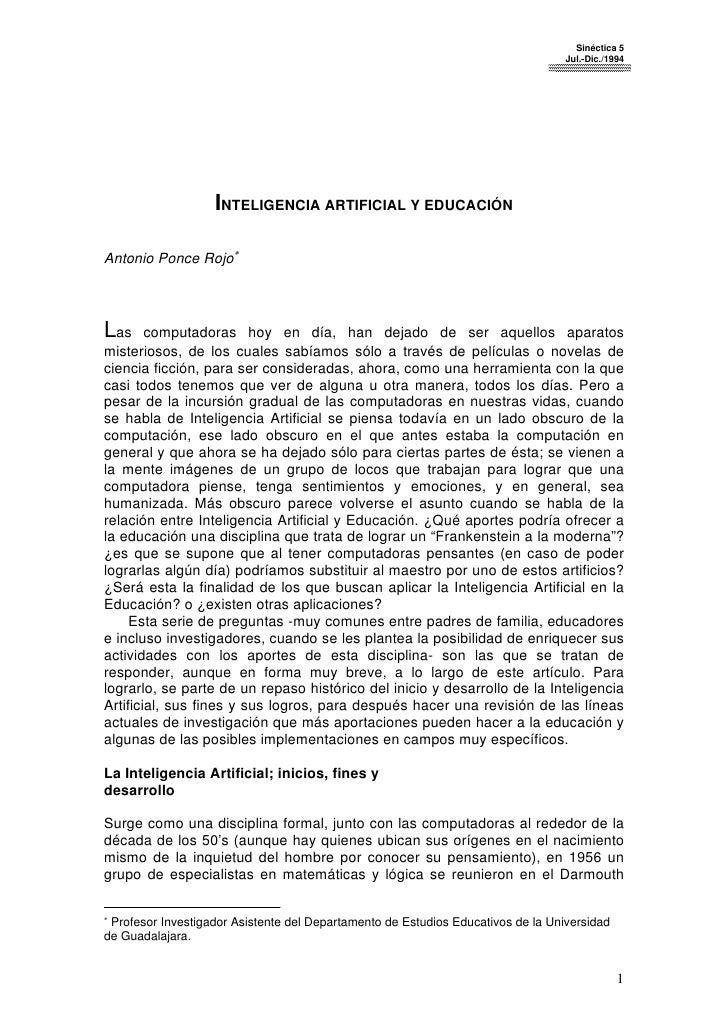 Sinéctica 5                                                                                   Jul.-Dic./1994              ...