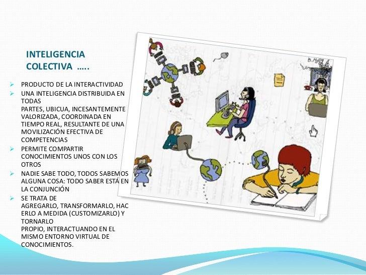 INTELIGENCIA    COLECTIVA ….. PRODUCTO DE LA INTERACTIVIDAD UNA INTELIGENCIA DISTRIBUIDA EN  TODAS  PARTES, UBICUA, INCE...