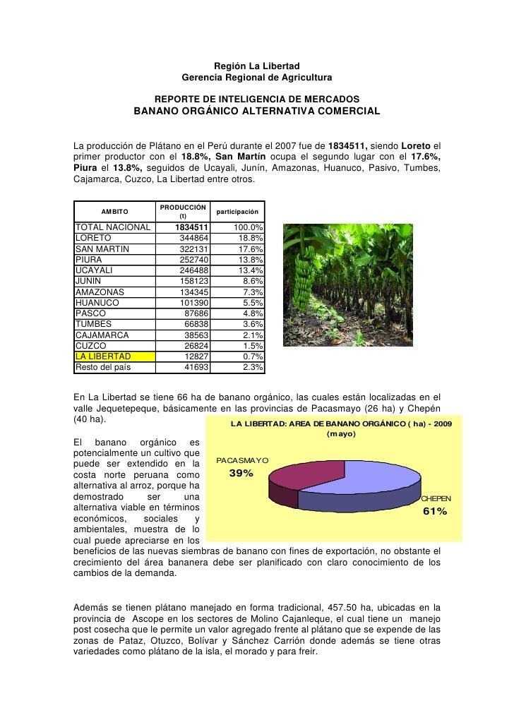 Región La Libertad                         Gerencia Regional de Agricultura                  REPORTE DE INTELIGENCIA DE ME...