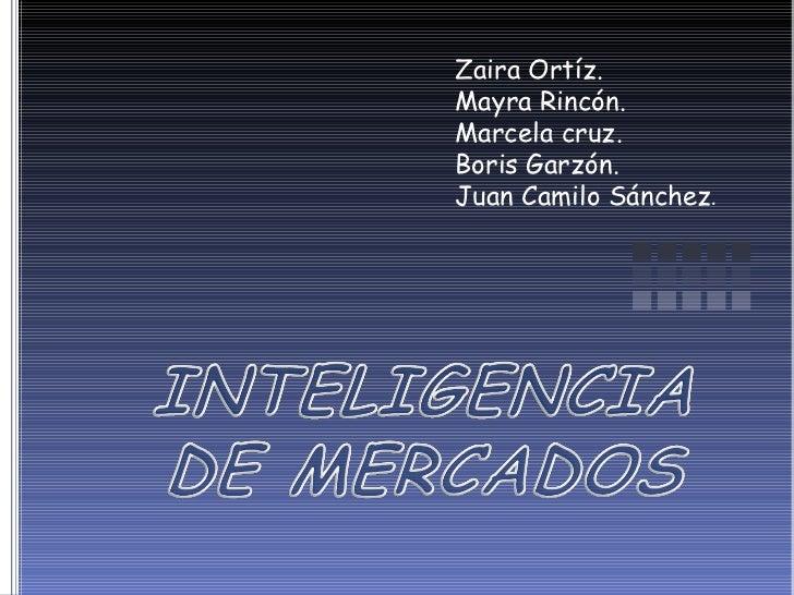 Zaira Ortíz. Mayra Rincón. Marcela cruz. Boris Garzón. Juan Camilo Sánchez .