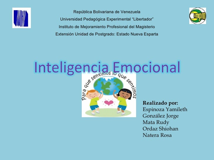 "República Bolivariana de Venezuela  Universidad Pedagógica Experimental ""Libertador"" Instituto de Mejoramiento Profesional..."