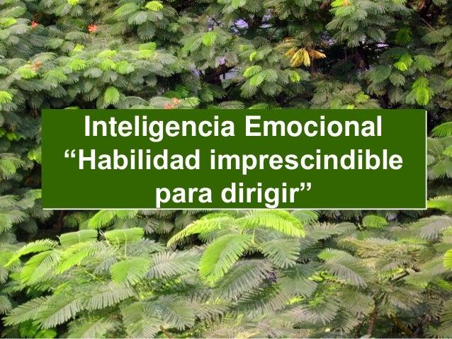 """Inteligencia Emocional """"Habilidad imprescindible para dirigir"""""""