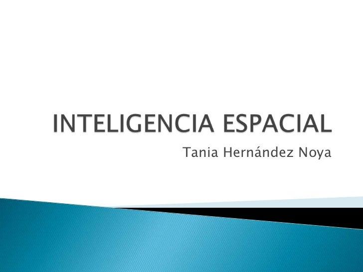 INTELIGENCIA ESPACIAL<br />Tania Hernández Noya<br />