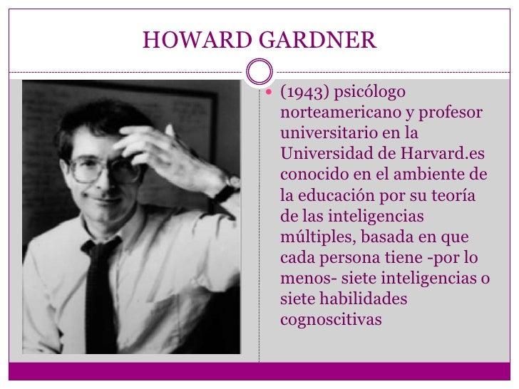 Inteligencia multiples de howard  Slide 2