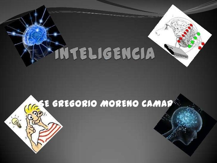 INTELIGENCIA<br />JOSE GREGORIO MORENO CAMARGO<br />