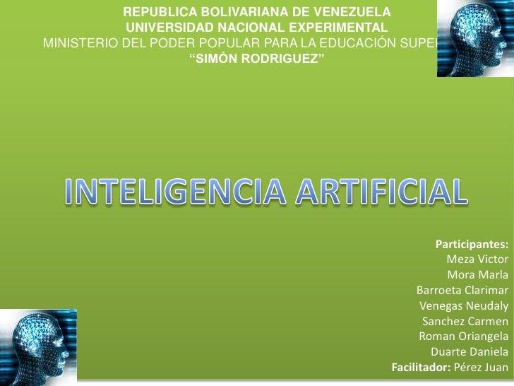 REPUBLICA BOLIVARIANA DE VENEZUELA<br />UNIVERSIDAD NACIONAL EXPERIMENTAL <br />MINISTERIO DEL PODER POPULAR PARA LA EDUCA...