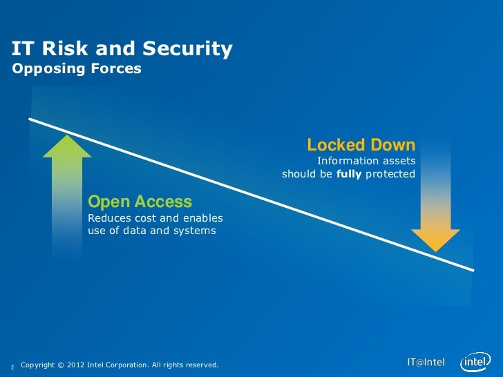 IT Risk and SecurityOpposing Forces                                                                   Locked Down         ...