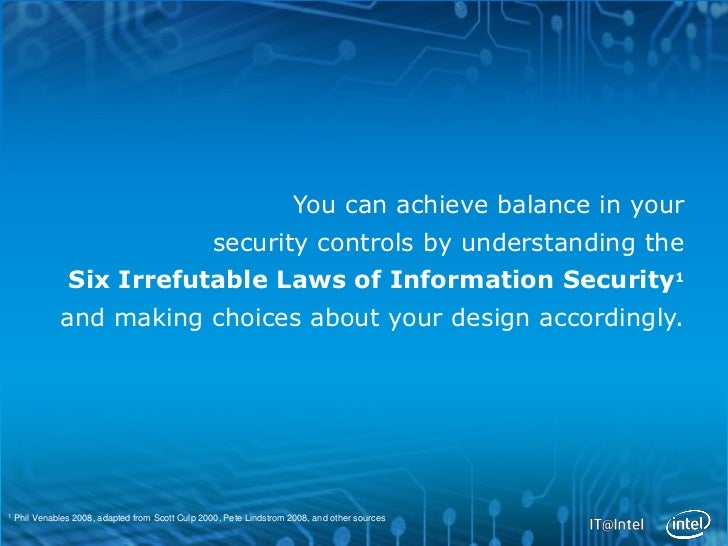 You can achieve balance in your                                                   security controls by understanding the  ...