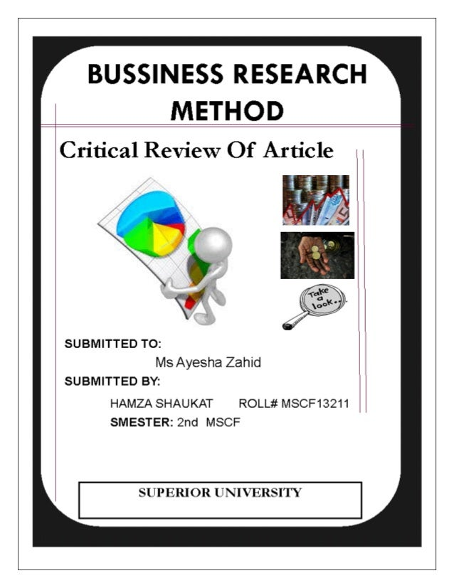 CRITICAL REVIEW OF THE ARTICLE  TITLE: INTELLECTUAL CAPITAL AND BUSINESS PERFORMANCE IN THE PORTUGUESE BANKING INDUSTRY  A...