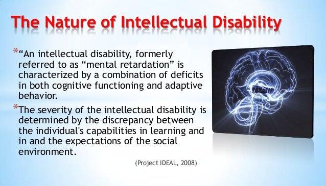 Intellectual disability Slide 2