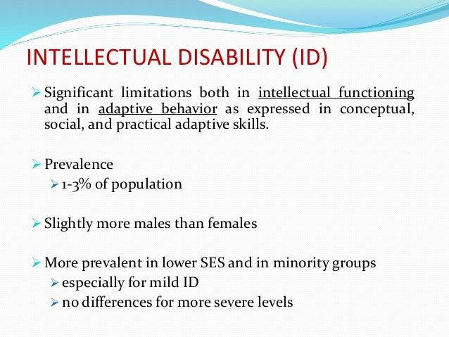 mild intellectual disability