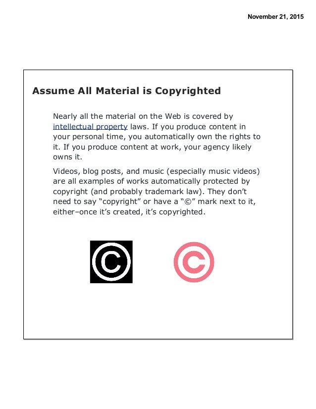 Examples Of The Works Protected By Intellectual Property Laws
