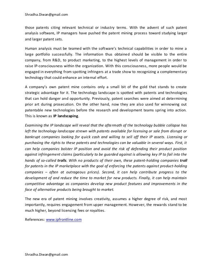 intellectual property cover letters