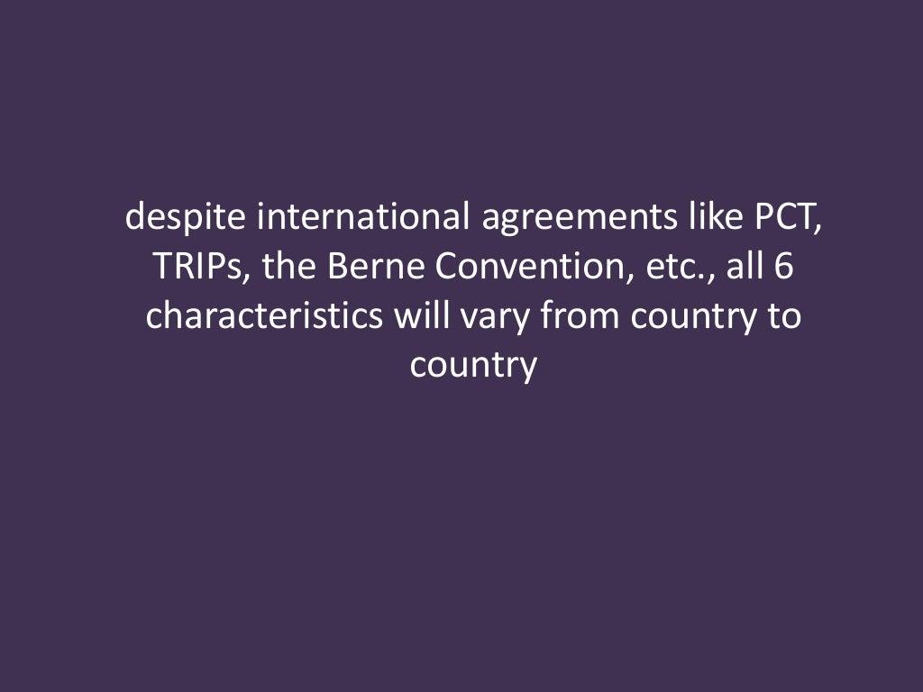 Despite International Agreements Like Pct