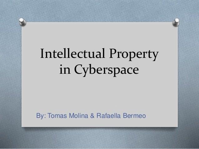 Intellectual Property in Cyberspace By: Tomas Molina & Rafaella Bermeo