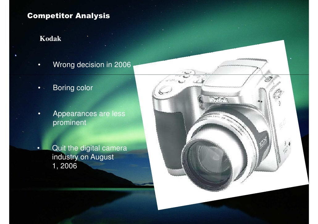 panasonic swot analysis on digital camera Free essay: swot analysis swot analysis is a tool which enables the  in  electronic market are more dominant eg sony, panasonic, lg etc in home   digital tvs, and digital still cameras computers, color monitors, lcd.