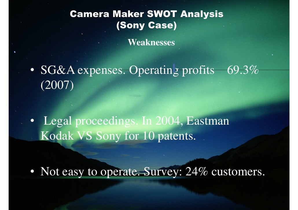 swot analysis of sony vaio Sony ericsson swot analysis strength diversity among products sony as a brand name weakness lack in understanding customer preferences less technology advancement lack of user centered designs.