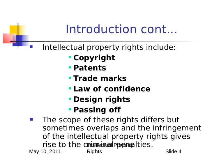 Scope Of Intellectual Property Law